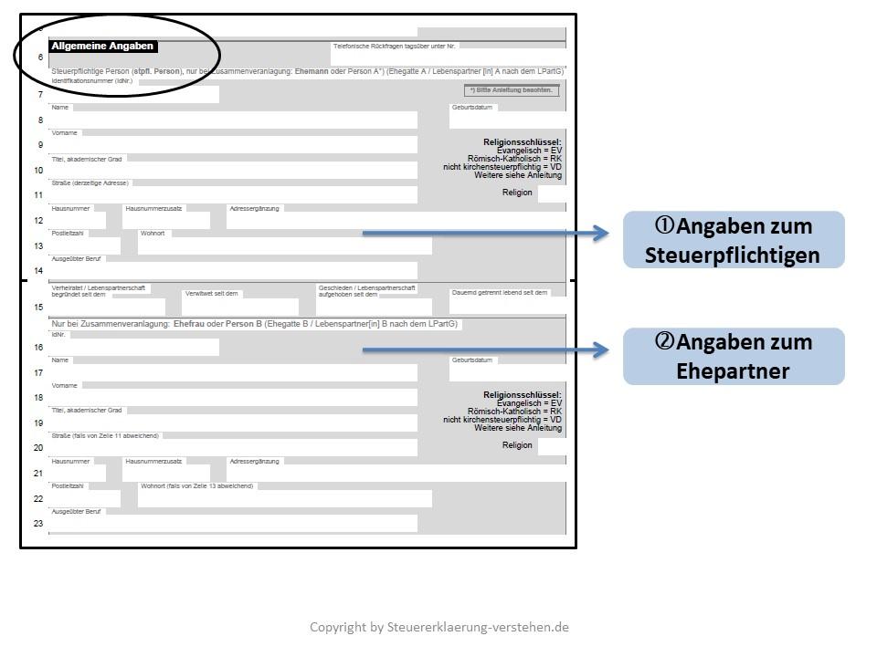 Der Hauptvordruck | Aufbau & Struktur der Steuererklärung