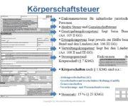 Körperschaftsteuer