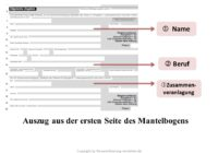 Steuererklärung Aufbau & Struktur