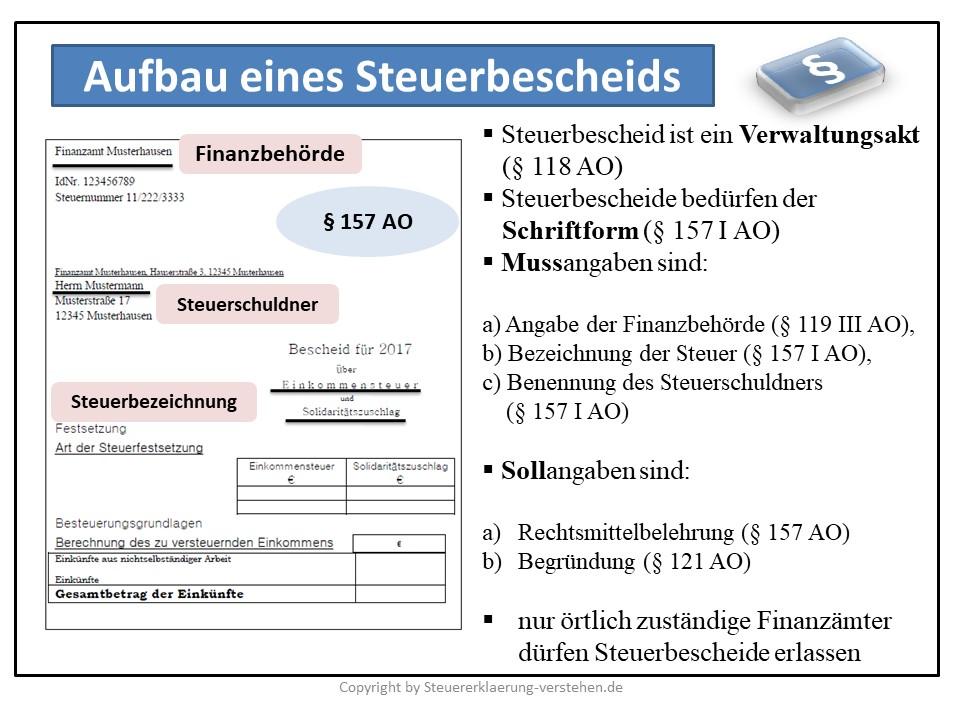 Steuerbescheid - Was ist ein Steuerbescheid? | Steuerbescheid Grundlagen